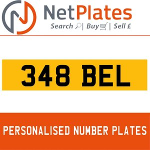 348 BEL PERSONALISED PRIVATE CHERISHED DVLA NUMBER PLATE For Sale