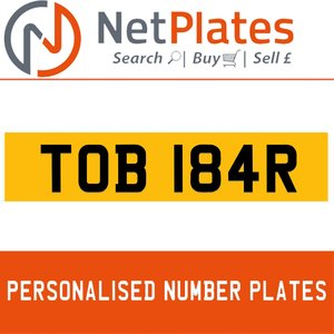 TOB 184R  PERSONALISED PRIVATE CHERISHED DVLA NUMBER PLATE For Sale