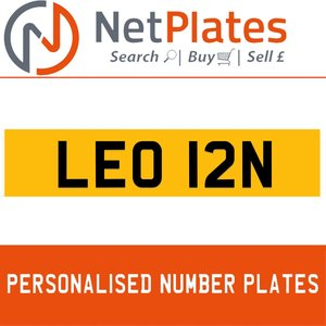 LEO 12N PERSONALISED PRIVATE CHERISHED DVLA NUMBER PLATE For Sale