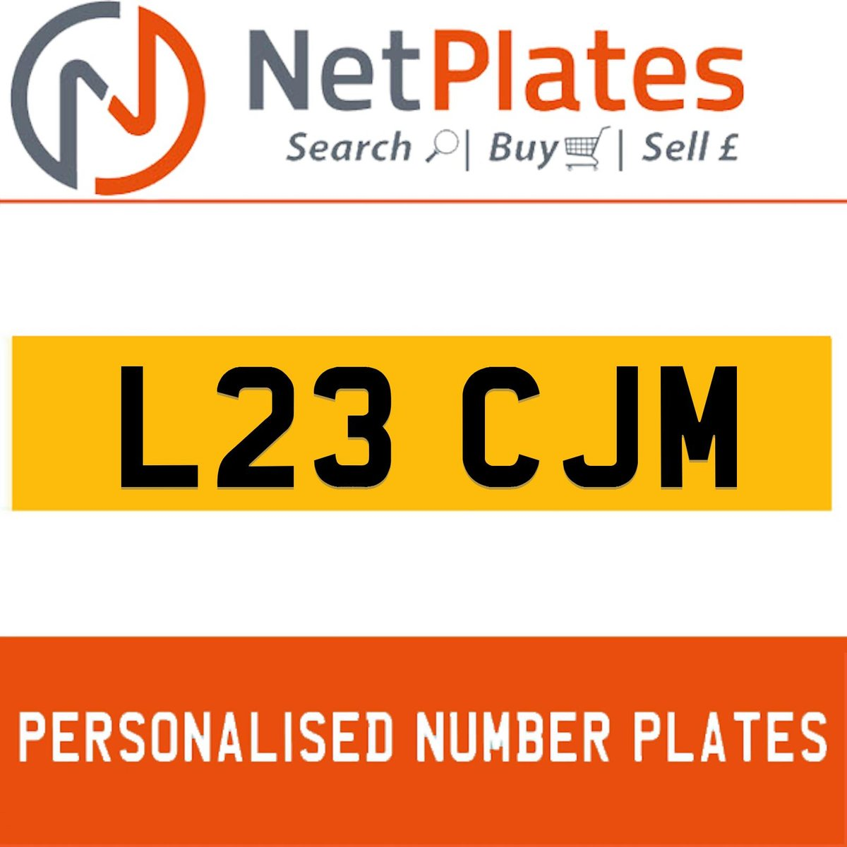L23 CJM PERSONALISED PRIVATE CHERISHED DVLA NUMBER PLATE For Sale (picture 1 of 5)