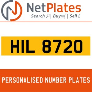 HIL 8720 PERSONALISED PRIVATE CHERISHED DVLA NUMBER PLATE For Sale