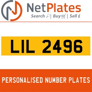 LIL 2496 PERSONALISED PRIVATE CHERISHED DVLA NUMBER PLATE For Sale