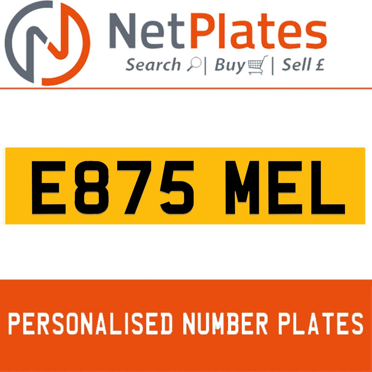 E875 MEL PERSONALISED PRIVATE CHERISHED DVLA NUMBER PLATE For Sale (picture 1 of 5)