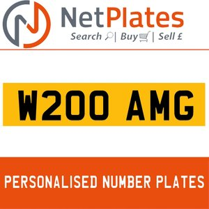 W200 AMG PERSONALISED PRIVATE CHERISHED DVLA NUMBER PLATE