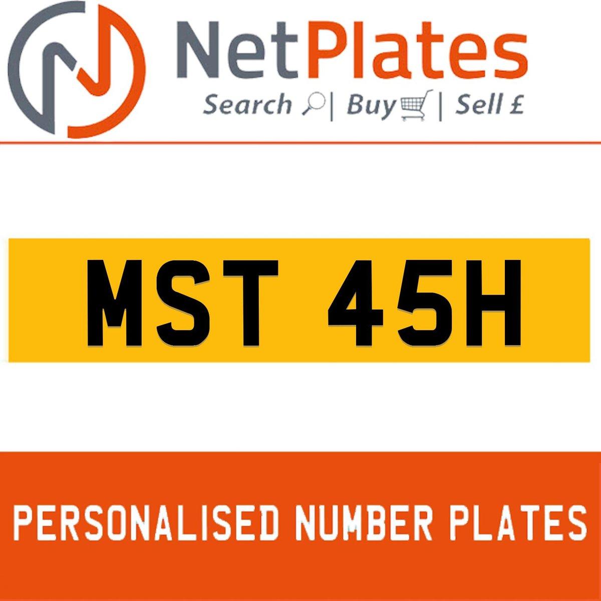 MAST 45H PERSONALISED PRIVATE CHERISHED DVLA NUMBER PLATE For Sale (picture 1 of 5)