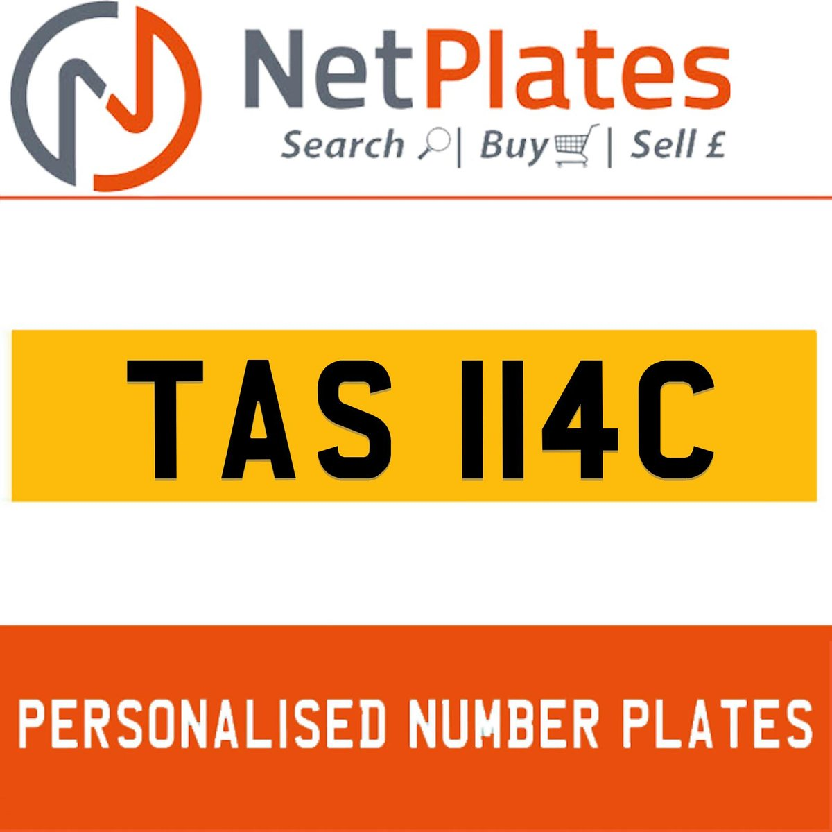 TAS 114C PERSONALISED PRIVATE CHERISHED DVLA NUMBER PLATE For Sale (picture 1 of 5)