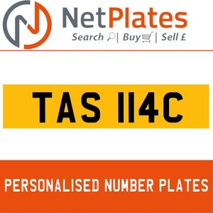 TAS 114C PERSONALISED PRIVATE CHERISHED DVLA NUMBER PLATE For Sale