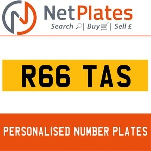 R66 TAS PERSONALISED PRIVATE CHERISHED DVLA NUMBER PLATE