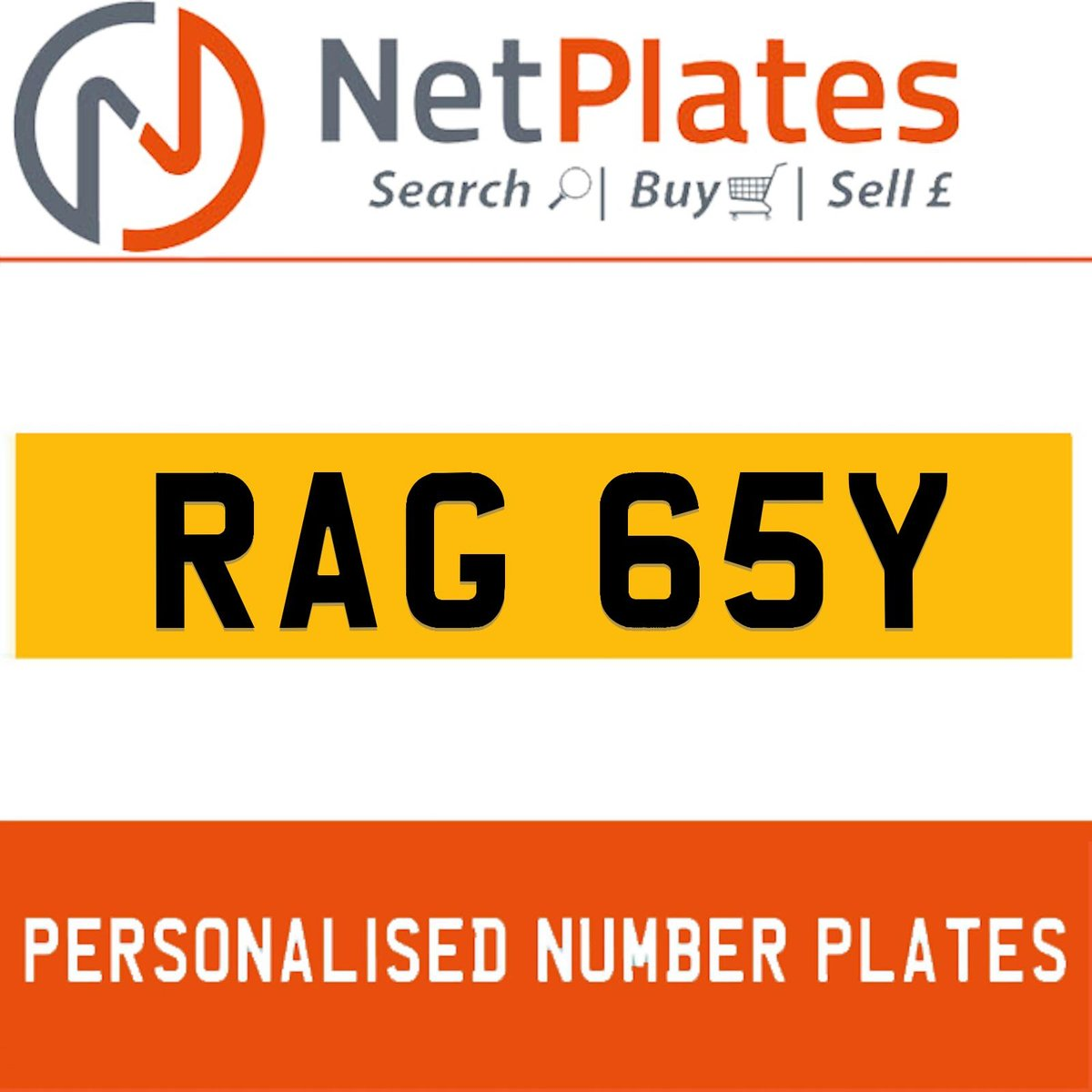 RAJ 65Y PERSONALISED PRIVATE CHERISHED DVLA NUMBER PLATE For Sale (picture 1 of 5)