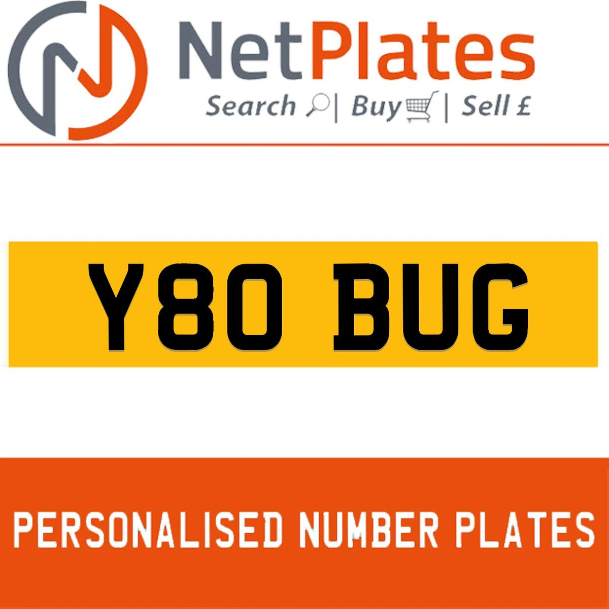 Y80 BUG PERSONALISED PRIVATE CHERISHED DVLA NUMBER PLATE For Sale (picture 1 of 5)