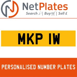 MKP 1W PERSONALISED PRIVATE CHERISHED DVLA NUMBER PLATE