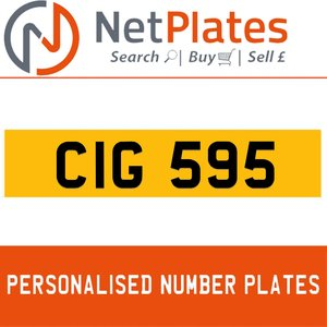 CIG 595 PERSONALISED PRIVATE CHERISHED DVLA NUMBER PLATE