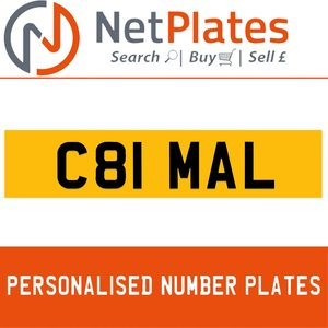 C81 MAL PERSONALISED PRIVATE CHERISHED DVLA NUMBER PLATE For Sale