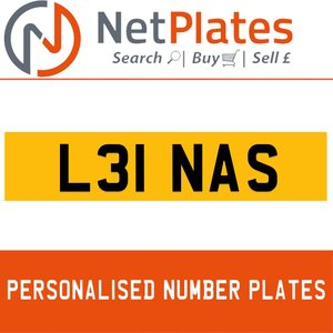 L31 NAS PERSONALISED PRIVATE CHERISHED DVLA NUMBER PLATE