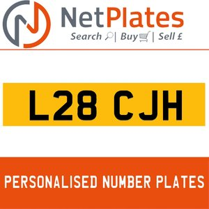 L28 CJH PERSONALISED PRIVATE CHERISHED DVLA NUMBER PLATE For Sale