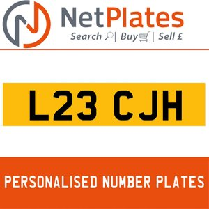 L23 CJH PERSONALISED PRIVATE CHERISHED DVLA NUMBER PLATE For Sale