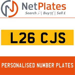 L26 CJS PERSONALISED PRIVATE CHERISHED DVLA NUMBER PLATE