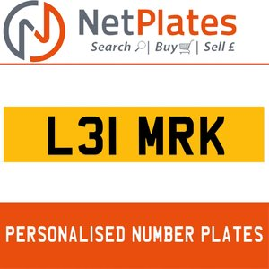 L31 MRK PERSONALISED PRIVATE CHERISHED DVLA NUMBER PLATE For Sale