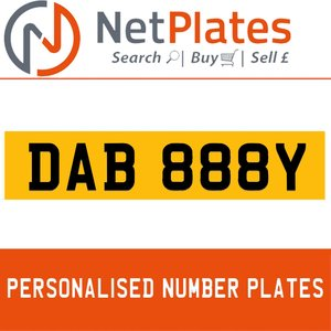 DAB 888Y PERSONALISED PRIVATE CHERISHED DVLA NUMBER PLATE