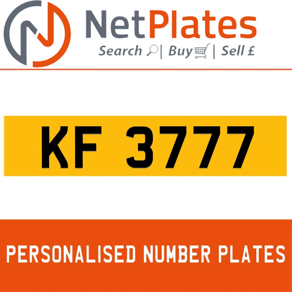 KF 3777 PERSONALISED PRIVATE CHERISHED DVLA NUMBER PLATE For Sale (picture 1 of 5)