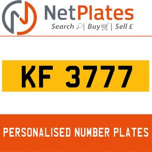 KF 3777 PERSONALISED PRIVATE CHERISHED DVLA NUMBER PLATE