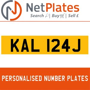 KAL 124J PERSONALISED PRIVATE CHERISHED DVLA NUMBER PLATE