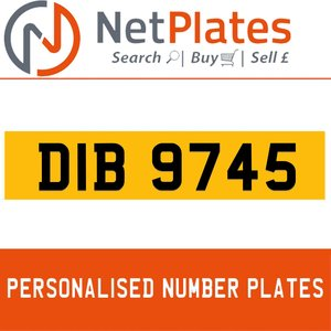 DIB 9745 PERSONALISED PRIVATE CHERISHED DVLA NUMBER PLATE For Sale