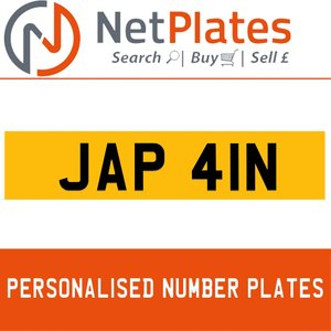 JAP 41N PERSONALISED PRIVATE CHERISHED DVLA NUMBER PLATE For Sale