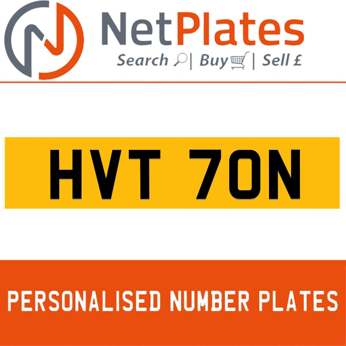 HVT 70N PERSONALISED PRIVATE CHERISHED DVLA NUMBER PLATE For Sale (picture 1 of 5)