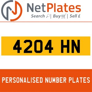 4204 HN PERSONALISED PRIVATE CHERISHED DVLA NUMBER PLATE For Sale