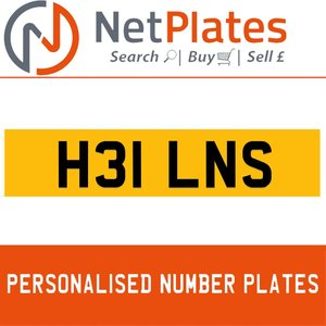 H31 JNS PERSONALISED PRIVATE CHERISHED DVLA NUMBER PLATE For Sale