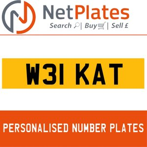 W31 KAT PERSONALISED PRIVATE CHERISHED DVLA NUMBER PLATE