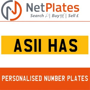 AS11 HAS PERSONALISED PRIVATE CHERISHED DVLA NUMBER PLATE For Sale