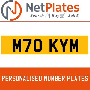 M70 KYM PERSONALISED PRIVATE CHERISHED DVLA NUMBER PLATE For Sale