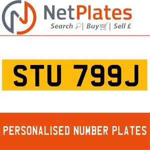 STU 799J PERSONALISED PRIVATE CHERISHED DVLA NUMBER PLATE For Sale