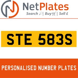STE 583S PERSONALISED PRIVATE CHERISHED DVLA NUMBER PLATE For Sale