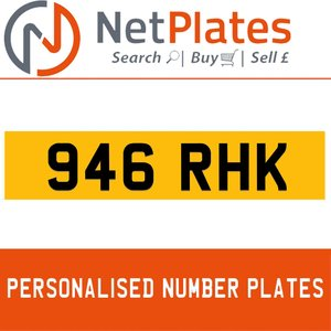946 RHK PERSONALISED PRIVATE CHERISHED DVLA NUMBER PLATE For Sale
