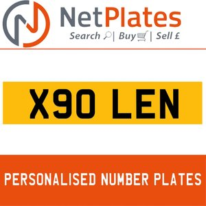 X90 LEN PERSONALISED PRIVATE CHERISHED DVLA NUMBER PLATE