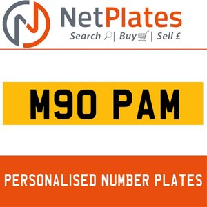 M90 PAM PERSONALISED PRIVATE CHERISHED DVLA NUMBER PLATE For Sale