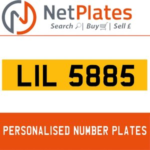 LIL 5885 PERSONALISED PRIVATE CHERISHED DVLA NUMBER PLATE For Sale
