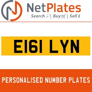 E161 LYN PERSONALISED PRIVATE CHERISHED DVLA NUMBER PLATE