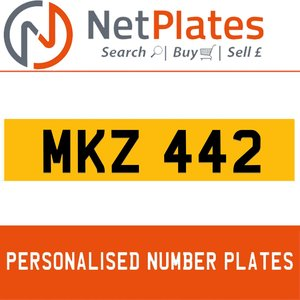 MKZ 442 PERSONALISED PRIVATE CHERISHED DVLA NUMBER PLATE For Sale