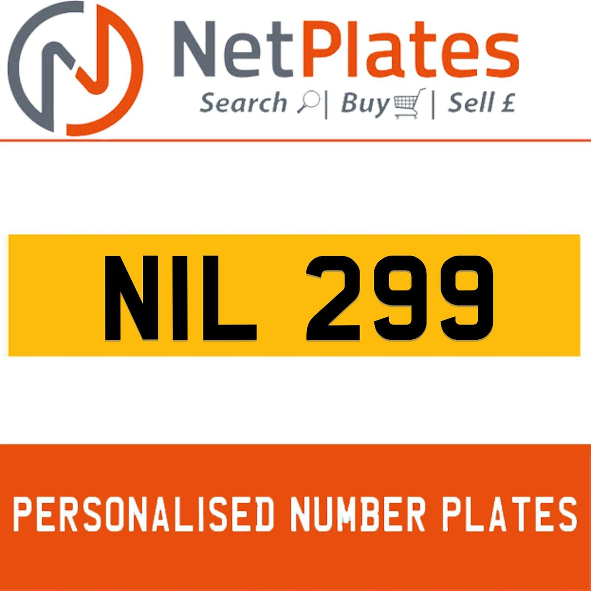 NIL 299 PERSONALISED PRIVATE CHERISHED DVLA NUMBER PLATE For Sale (picture 1 of 5)