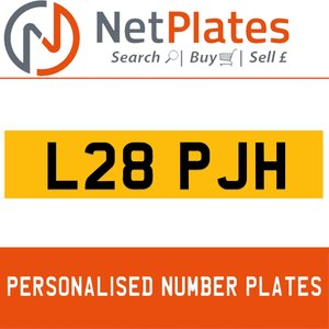 L28 PJH PERSONALISED PRIVATE CHERISHED DVLA NUMBER PLATE For Sale