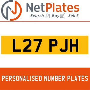 L27 PJH PERSONALISED PRIVATE CHERISHED DVLA NUMBER PLATE For Sale