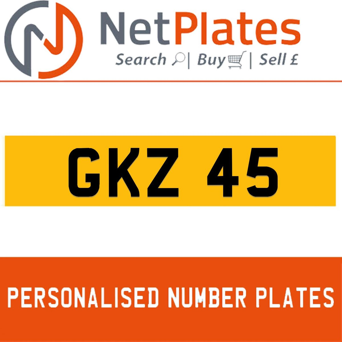 GKZ 45 PERSONALISED PRIVATE CHERISHED DVLA NUMBER PLATE For Sale (picture 1 of 5)