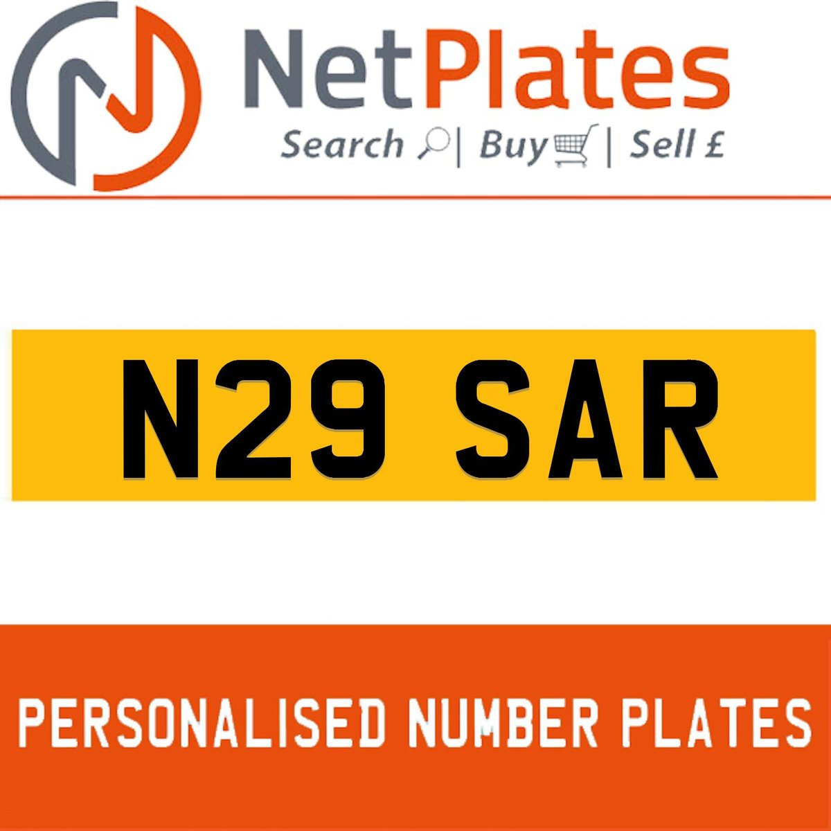 N29 SAR PERSONALISED PRIVATE CHERISHED DVLA NUMBER PLATE For Sale (picture 1 of 5)