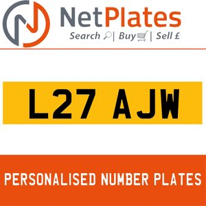 L27 AJW PERSONALISED PRIVATE CHERISHED DVLA NUMBER PLATE