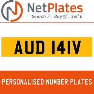 AUD 141V PERSONALISED PRIVATE CHERISHED DVLA NUMBER PLATE