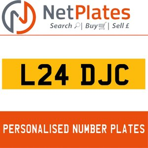 L24 DJC PERSONALISED PRIVATE CHERISHED DVLA NUMBER PLATE For Sale